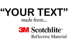 3M Scotchlite Reflective Lettering -Sizes & Colours. Gates Warning Signs (Black)