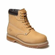 MENS DICKIES CLEVELAND ANKLE SAFETY WORK BOOTS HONEY STEEL TOE CAP SIZE UK 7 -11
