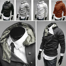 Men's Stylish Slim Fit Side Zip Hooded Hoodies Sweater Jackets Coats Sweatshirt