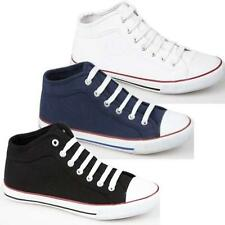 Mens Hi Tops Trainers New High Ankle Canvas Flat Pumps Fashion Boots Shoes Size