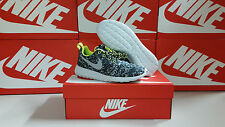 NIKE ROSHE RUN PRINT Women's Sizes - Cool Grey / Wolf Grey / Volt - 599432 070