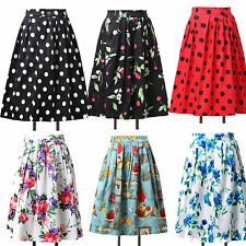VICTORIAN 60s 1920s HOMECOMING DANCING PARTY ROCKABILLY Printed Prom Dress Skirt