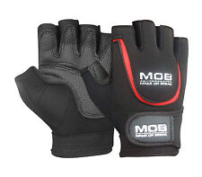 WEIGHT LIFTING RUBBER PADDED GLOVES FITNESS TRAINING BODY BUILDING GYM CYCLING