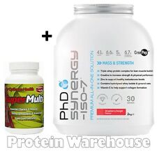 PhD Synergy ISO-7 2kg Whey Protein & Creatine + Free Super Multi 60 Vitamins