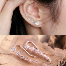 1 Pair Beautiful 18K GP White & Gold Plated Element Crystal Earrings Ear Hook