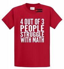 4 Of 3 People Struggle With Math Funny T Shirt Cute Funny Geek Nerd Math Shirt