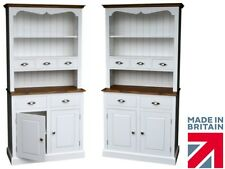 Solid Pine Dresser, White Painted Welsh Dresser with Spice Drawers, Display Unit
