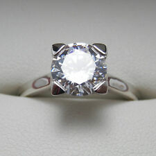 1.2 Carat ROUND CUT D Color My Russian Diamond Simulant 14K Gold Engagement Ring