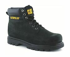 Caterpillar Childrens Black Colorado Kids Rubber Sole Flat Heel Lace Up Boots