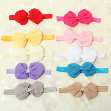 Cute Baby Girls Newborn Chiffon Bowknot Headbands Hairband Hair Bow Band Bandeau