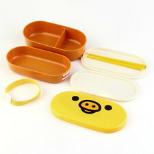 Lovely High Heat Resistance Double Layers Chopsticks Plastic Bento Lunch Box m2