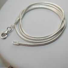 "Sterling Silver SNAKE Chain Necklace 1.6mm 925 Italian 16"", 18"", 20"", 24"", 30"""