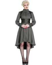 Spin Doctor Arwen Coat Jacket Grey Tweed Corset Harness Gothic Steampunk VTG