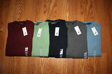 NWT Mens NAUTICA V-Neck Sweater Navy Burgundy Gray Green Lt Blue M L XL 2XL $60