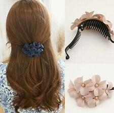 GO CA Great Handmade women girl flower Banana barrette hair clip hair pin claw
