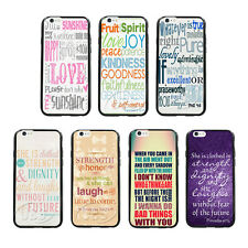 New Proverbs 31:25 Quote On TPU Bumper Hard Case For iPhone 4 4S 5 5S 5C 6 6Plus