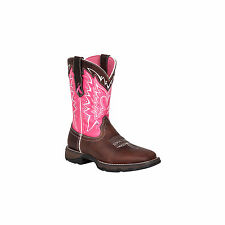 "Durango RD3557 Women's 10"" Pink Ribbon Brown and Pink Western Boots"