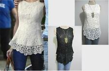 Womens Evening Dress TOP Size 8 12 NWT WHITE Lace Blouse Work Clubbing or Black
