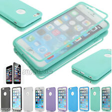 Flip Full Pouch Clear Hybrid Rubber Hard Cover Case For iPhone 6 6s Plus