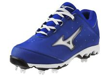 Mizuno Women's 9 Spike Swift 3 Switch Softball Cleats Royal/White 320452.5200