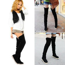 NEW Hot Sell Women's Fashion Autumn Winter Over Knee Boots Heel Warm Long Shoes