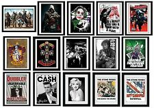 FILM/MUSIC/GAMES Framed Collector Prints 15x20 (Licensed Hi-Resolution Artwork)