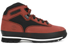 Timberland Euro Hiker 6664A New Mens Red Black Winter Lifestyle Boots Shoes