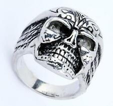 Mens Hells Angels Support 81 Heavy Large Skull Ring Biker Stainless Steel NG