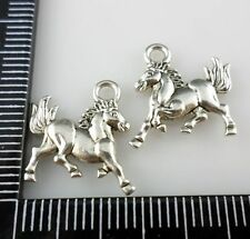 60/500Pcs Tibetan Silver Horse/Steed Charms Pendant 14x15mm (Lead-free)