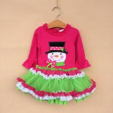 Kids Clothing Baby Girl Christmas Outfit Halloween Costume Tops Age 2-8T