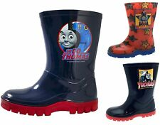 Kids Boys Thomas Tank Engine Wellington Boots Wellies Wellys Shoes Size UK 4-10
