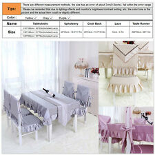 Solid Dinner Table Cloth Chair Back Cover Seat Cusion Pad Home Decor - 3 Colors