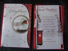 NEIGHBOUR ~ Quality CHRISTMAS CARD ~ With  LOVELY VERSES ~ L@@K