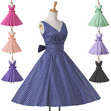 POP HOUSEWIFE VINTAGE 50s 60s ROCKABILLY PIN UP SWING EVENING PARTY TEA DRESS K!