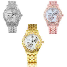 Women Butterfly Dial  Gemstone Rhinestone Diamond Wristwatch