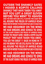 Personalised Favourite Football Song Chant - Liverpool -  Fields of Anfield Road