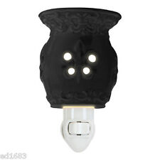 Black White Electric Scented Wax Tart Oil Plug In Warmer Burner Night Lamp Aroma
