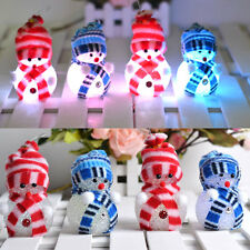 Christmas Present Decoration Cute Light up Glowing Snowman Ornaments Doll Toys