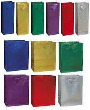 HOLOGRAPHIC GLOSSY GIFT BAGS - Range of Colours & Sizes(Birthday/Xmas/Christmas)