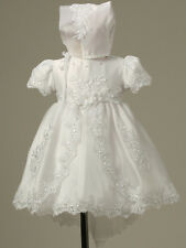 Baby Infant Christening Baptism gowns Dress Bonnet Free Outfit Wedding Toddler
