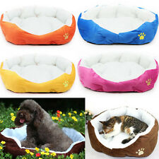 Hot Pet Dog Puppy Cat Soft Fleece Warm Bed House Plush Cozy Nest Mat Pad M/L