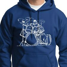 DRUMMER Drums Cool Musician T-shirt Band Party Music Hoodie Sweatshirt