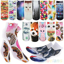 3D Printed Unisex Mens Womens Harajuku Cute Low Cut Ankle Socks Multiple Pattern