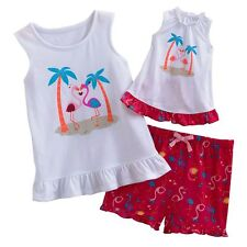 """NWT Jumping Beans Flamingo Pajamas Matching Doll Gown Fits American Girl 18"""""""