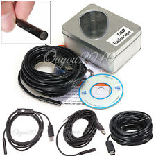 2/5/7/10/15M USB Telecamera Sonda Endoscopio LED Endoscopio Endoscope Waterproof