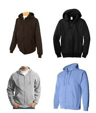 Jerzees Men's Zip Up Hoodie 8oz Black, Blue, Gray, Brown, Size M L XL 2XL NEW