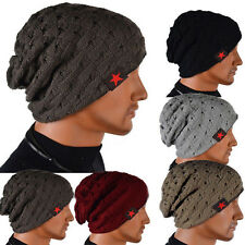 Men Knit Beanie Reversible Baggy Cap Skull Chunky Winter Hat X085 HOT SALE