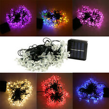 Solar Power 50*Leds String Light Xmas Wedding Party Decoration Flower Fairy Lamp