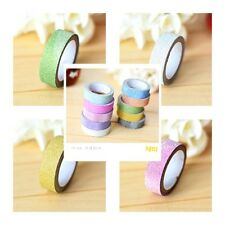 New 1 PC 5M Glitter Paper Tape Paper Stickers Sticky Craft Decorative DIY