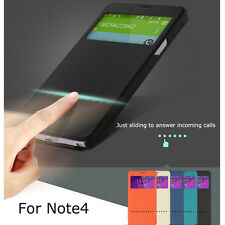 New ROCK Smart Window View Flip leather Case Cover for Samsung Galaxy Note4 N910
